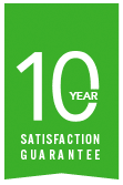 10-year Satisfaction Guarantee