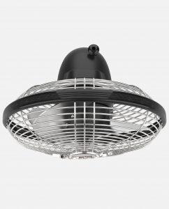 Vornado Silver Swan S Vintage Oscillating Fan Top Matte Black