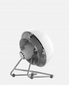 Vornado VFAN Mini Modern Vintage Air Circulator Back Angle Ice White