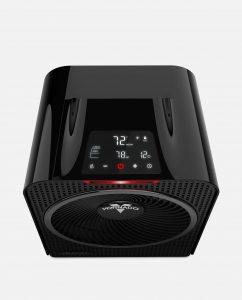 Vornado Velocity 5 Whole Room Heater with Auto Climate Controls Black
