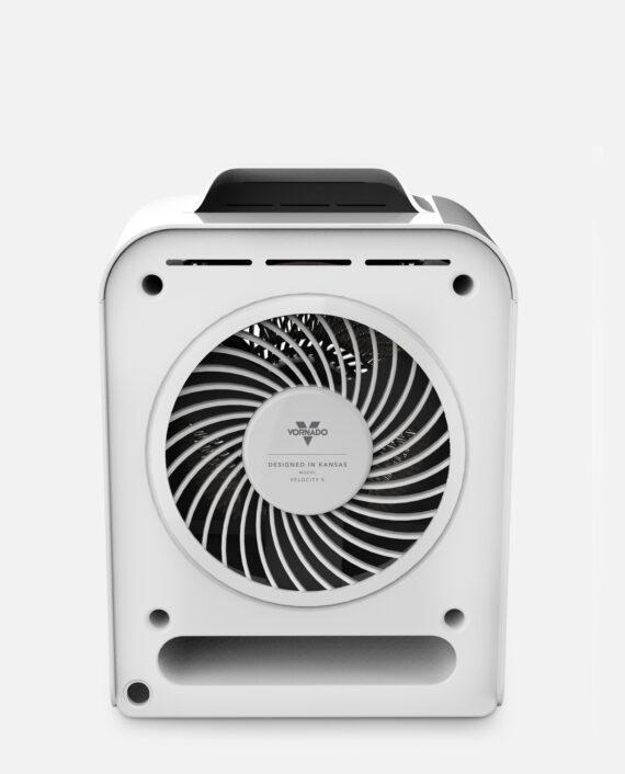 Vornado Velocity 5 Whole Room Heater with Auto Climate Back White