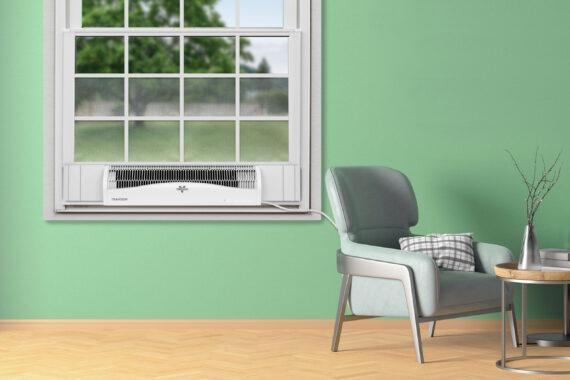 Vornado TRANSOM Window Air Circulator White Lifestyle
