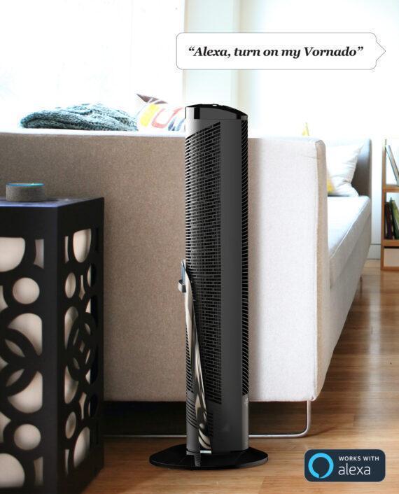 "Vornado OSCR37 AE 37"" Oscillating Tower Circulator with Alexa Lifestyle"